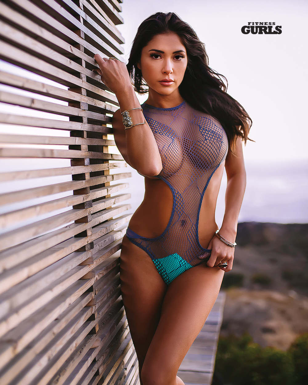 Asian woman with swimsuit and lotion 6